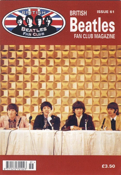 Fanmagazin BRITISH BEATLES FAN CLUB MAGAZINE - ISSUE 61