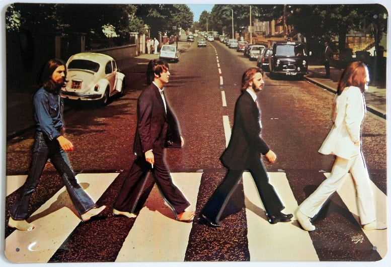 BEATLES-Blechschild ABBEY ROAD - PART OF ALBUM COVER