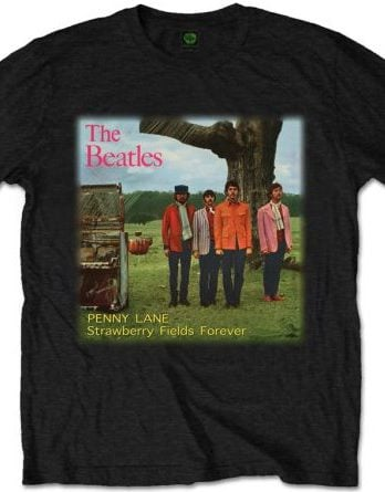 T-Shirt BEATLES SINGLE COVER STRAWBERRY FIELDS FOREVER