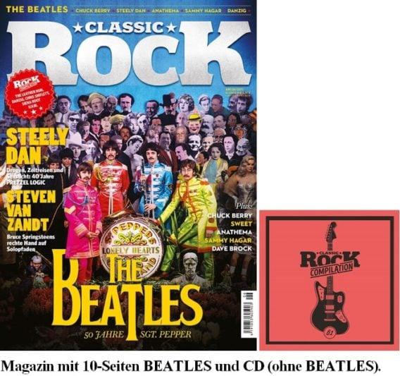 Zeitschrift CLASSIC ROCK 06/2017 - 10 Seiten BEATLES-Themen