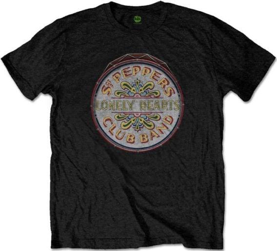 BEATLES-T-Shirt SGT. PEPPER - BASS DRUM LOGO
