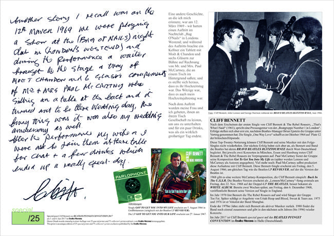 CLIFF BENNETT: excl. sp. print BENNETT & BEATLES & McCARTNEY
