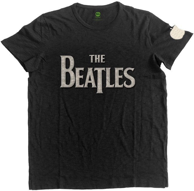 BEATLES-T-Shirt LETTERING THE BEATLES & APPLE SEWED