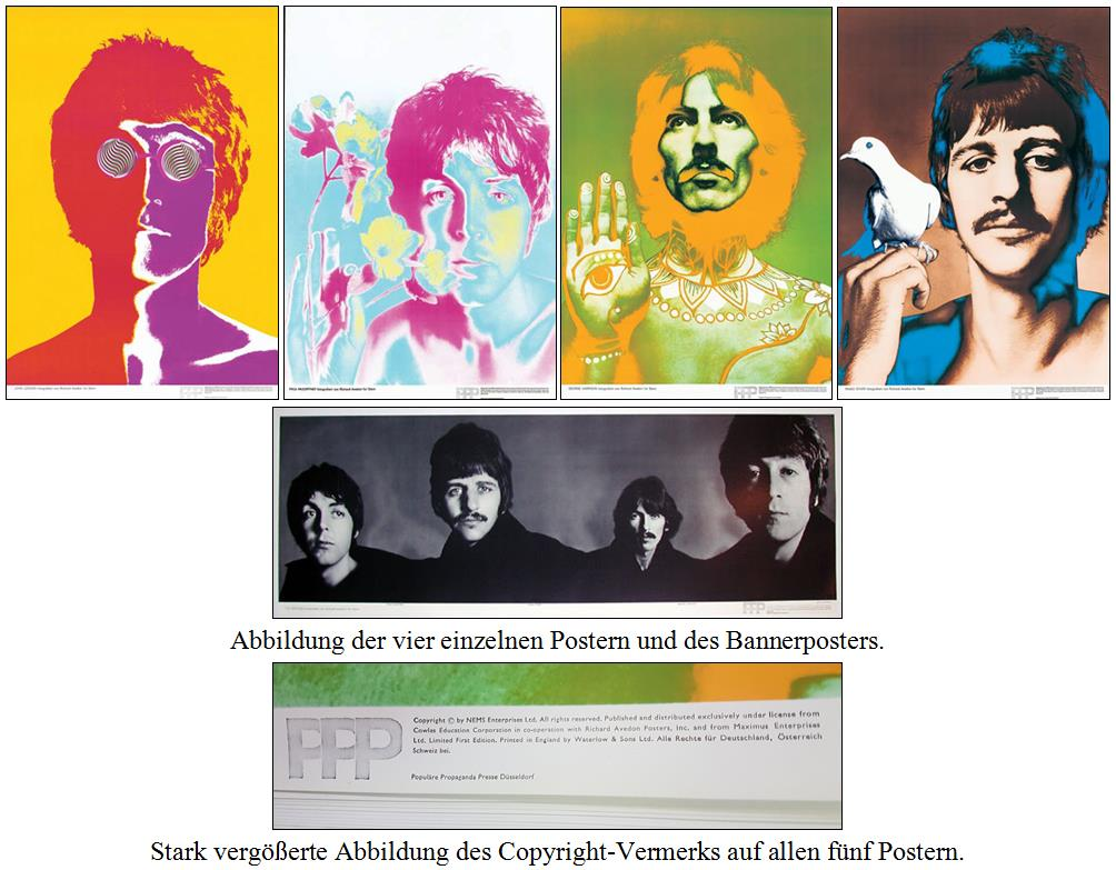 BEATLES: 5er Poster-Set THE RICHARD AVEDON SET
