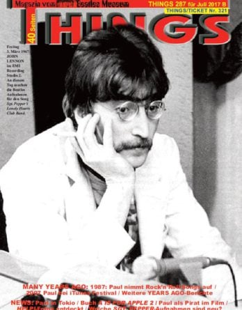 Deutsches BEATLES-Magazin THINGS 287