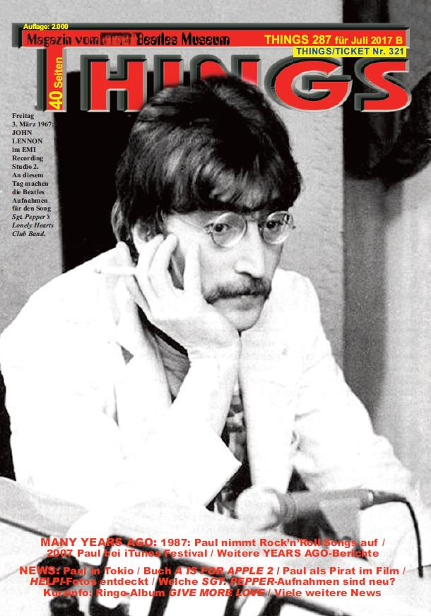 Deutsches BEATLES-Magazin THINGS 287