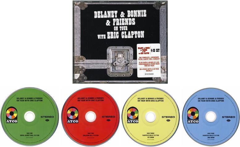 Delaney & Bonnie & Friends: Box 4 CDs ON TOUR WITH EIC CLAPTON