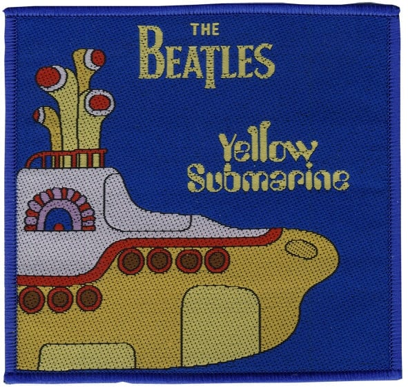 BEATLES-Aufnäher/Aufbügler YELLOW SUBMARINE SONGTRACK COVER