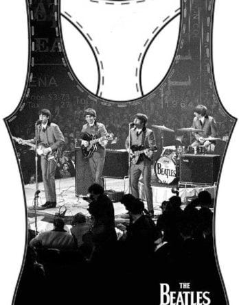BEATLES Girlie-Shirt  LIVE ON STAGE WASHINGTON 1964 ON BLACK