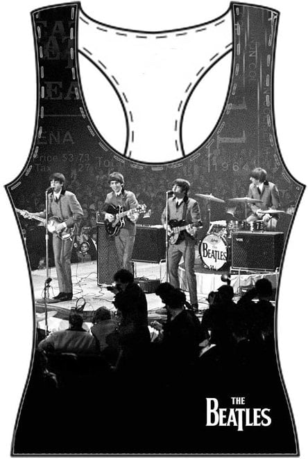 BEATLES Girlie-Shirt  LIVE ON STAGE WASHINGTON 1964 ON BLACK