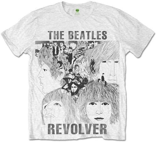 BEATLES-T-Shirt REVOLVER ALBUM COVER ON WHITE
