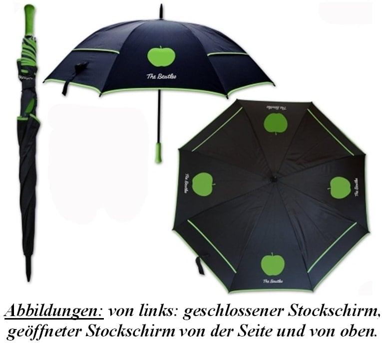 """RAIN-Schirm"" (Stockschorm) THE BEATLES/APPLE LOGO"