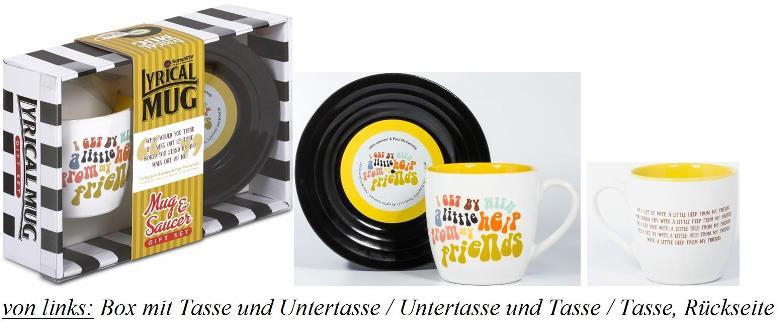BEATLES-Tasse & Untertasse WITH A LITTLE HELP FROM MY FRIENDS 2