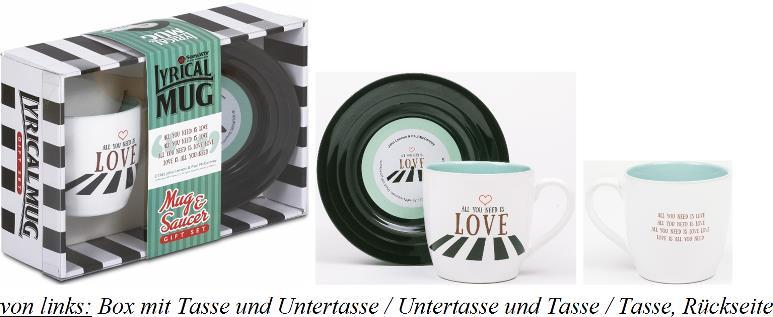 BEATLES-Tasse & Untertasse ALL YOU NEED IS LOVE 1