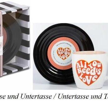 BEATLES-Tasse & Untertasse ALL YOU NEED IS LOVE 2
