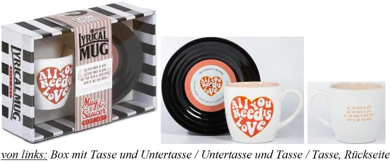 BEATLES-Tasse & Untertasse ALL YOU NEED IS LOVE 2