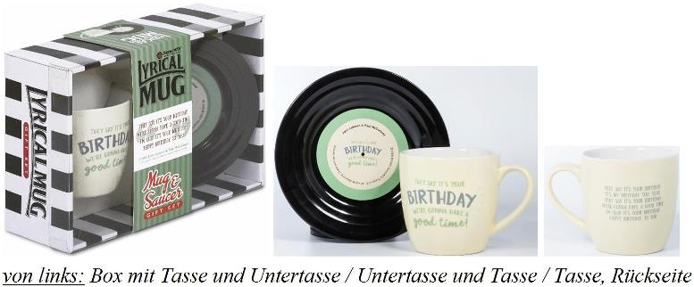 BEATLES-Tasse & Untertasse BIRTHDAY