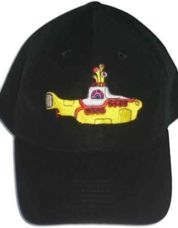 BEATLES: Baseball Cap YELLOW SUBMARINE gelb auf schwarz