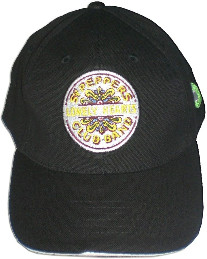 BEATLES: Baseball Cap SGT. PEPPER farbig auf schwarz
