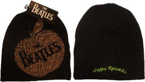 BEATLES: Wollmütze/Beanie Hat: APPLE mit Schriftzug THE  BEATLES