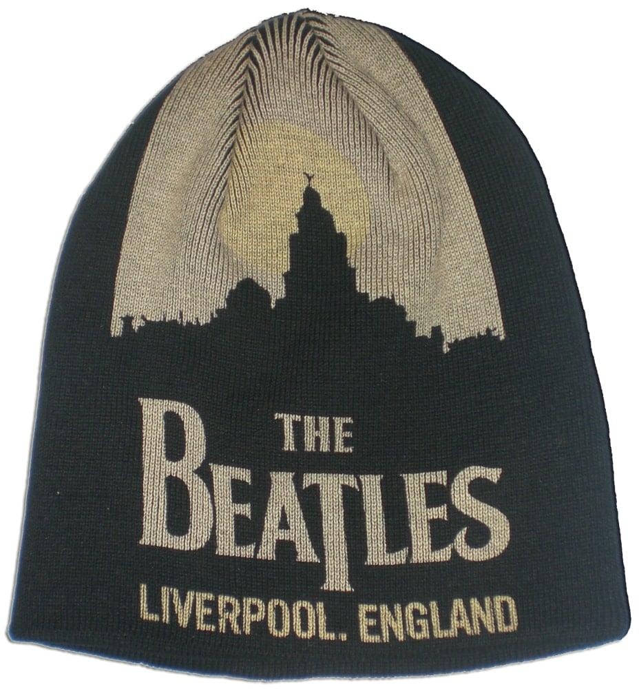 BEATLES: Wollmütze/Beanie Hat: Liverpool-Silhouette