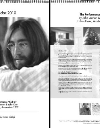 "JOHN LENNON: Kalender 2010 The Performance ""Bed-In"""