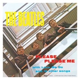 BEATLES: Aufkleber / sticker PLEASE PLEASE ME COVER, groß