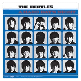 BEATLES: Aufkleber / sticker A HARD DAY'S NIGHT COVER groß