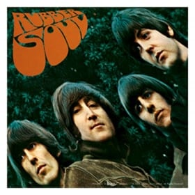BEATLES: Aufkleber / sticker RUBBER SOUL COVER groß