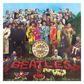 BEATLES: Aufkleber / sticker SGT. PEPPER COVER, groß