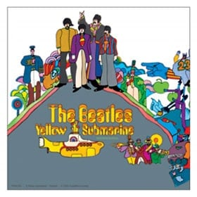 BEATLES: Aufkleber / sticker YELLOW SUBMARINE COVER, groß