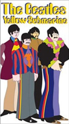 BEATLES: Aufkleber / sticker YELLOW SUBMARINE - THE BAND