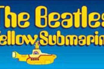 BEATLES: Aufkleber / sticker YELLOW SUBMARINE SONGTRACK LOGO