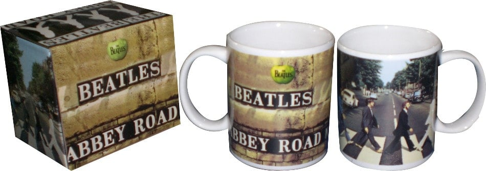 BEATLES: Kaffeebecher COVER ABBEY ROAD (BOTH SIDES)