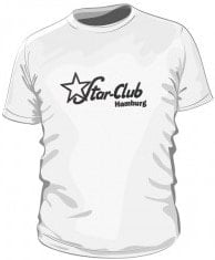 T-Shirt STAR-CLUB LOGO, weiß