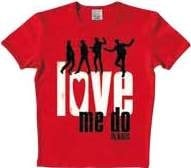 BEATLES: T-Shirt LOVE ME DO  in rot