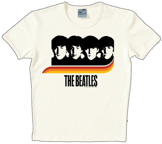 T-SHIRT A HARD DAY'S NIGHT RAINBOW ON WHITE