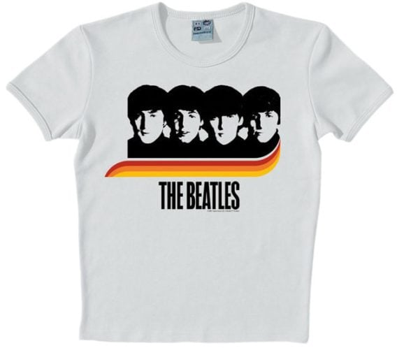 BEATLES T-Shirt A HARD DAY'S NIGHT RAINBOW ON GREY