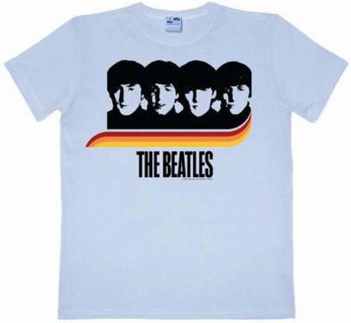 BEATLES: T-Shirt A HARD DAY'S NIGHT RAINBOW ON PASTELL BLUE