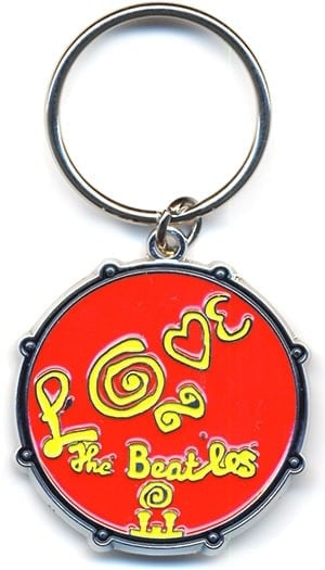 BEATLES: Schlüsselanhänger Logo BASS DRUM LOVE