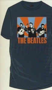 BEATLES T-Shirt ED SULLIVAN SHOW, grau