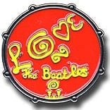 "BEATLES Pin BASS DRUM ""LOVE"" FROM MAGICAL MYSTERY TOUR"