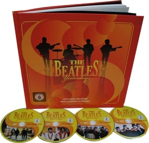 Buch mit 4 DVDs THE BEATLES YESTERDAYS