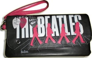 BEATLES Tasche ABBEY ROAD in pink, klein