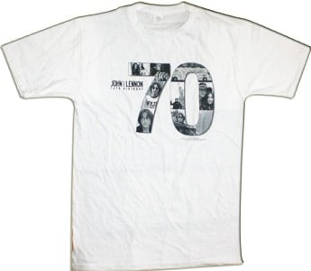 Lennon, John: T-SHIRT 70TH BIRTHDAY