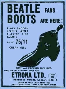 BEATLES: Poster BEATLE BOOTS