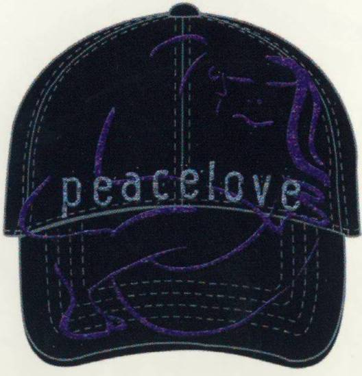 JOHN LENNON: Baseball Cap PEACE LOVE