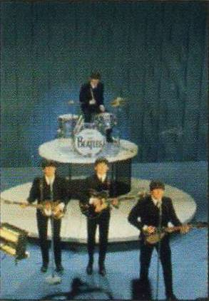 BEATLES: Postkarte  AT THE ED SULLIVAN SHOW