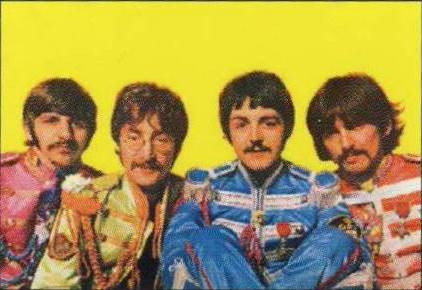 BEATLES: Postkarte SGT PEPPER LP COVER INSIDE