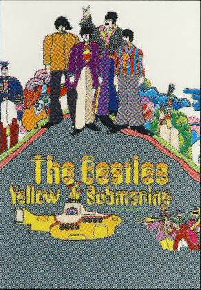 BEATLES: Postkarte YELLOW SUBMARINE COVER